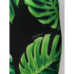 Photo of Dolce & Gabbana Bleistiftrock mit Philodendron-Print – Schwarz Dolce & Gabbana