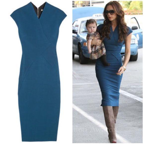 Blue Pencil Dress ASO Victoria Beckham