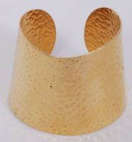 Trifari Hammered Gold Cuff - but in ring form