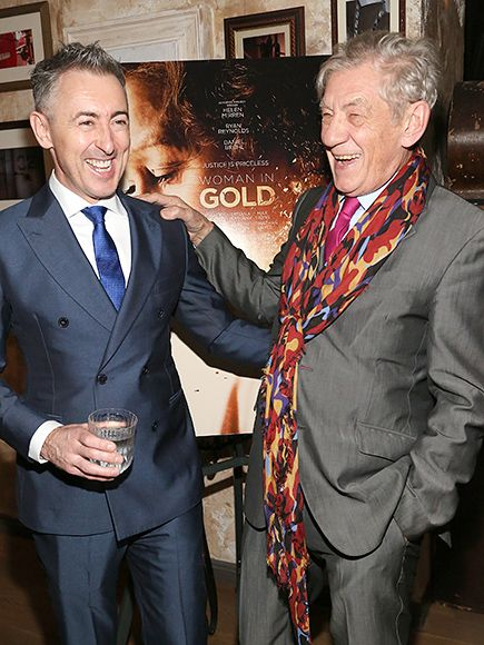 Star Tracks: Thursday, December 3, 2015 | 'SCARF' IT DOWN | Sir Ian McKellen dons a multi-colored scarf while sharing a laugh with Alan Cumming at The Weinstein Company's cocktail reception for Helen Mirren and Woman in Gold on Wednesday at the House of Elyx in N.Y.C.