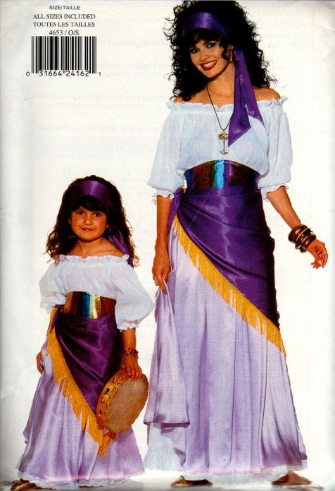 Gypsy halloween sewing pattern mother daughter esmeralda gypsy halloween sewing pattern mother daughter esmeralda costumes solutioingenieria Choice Image