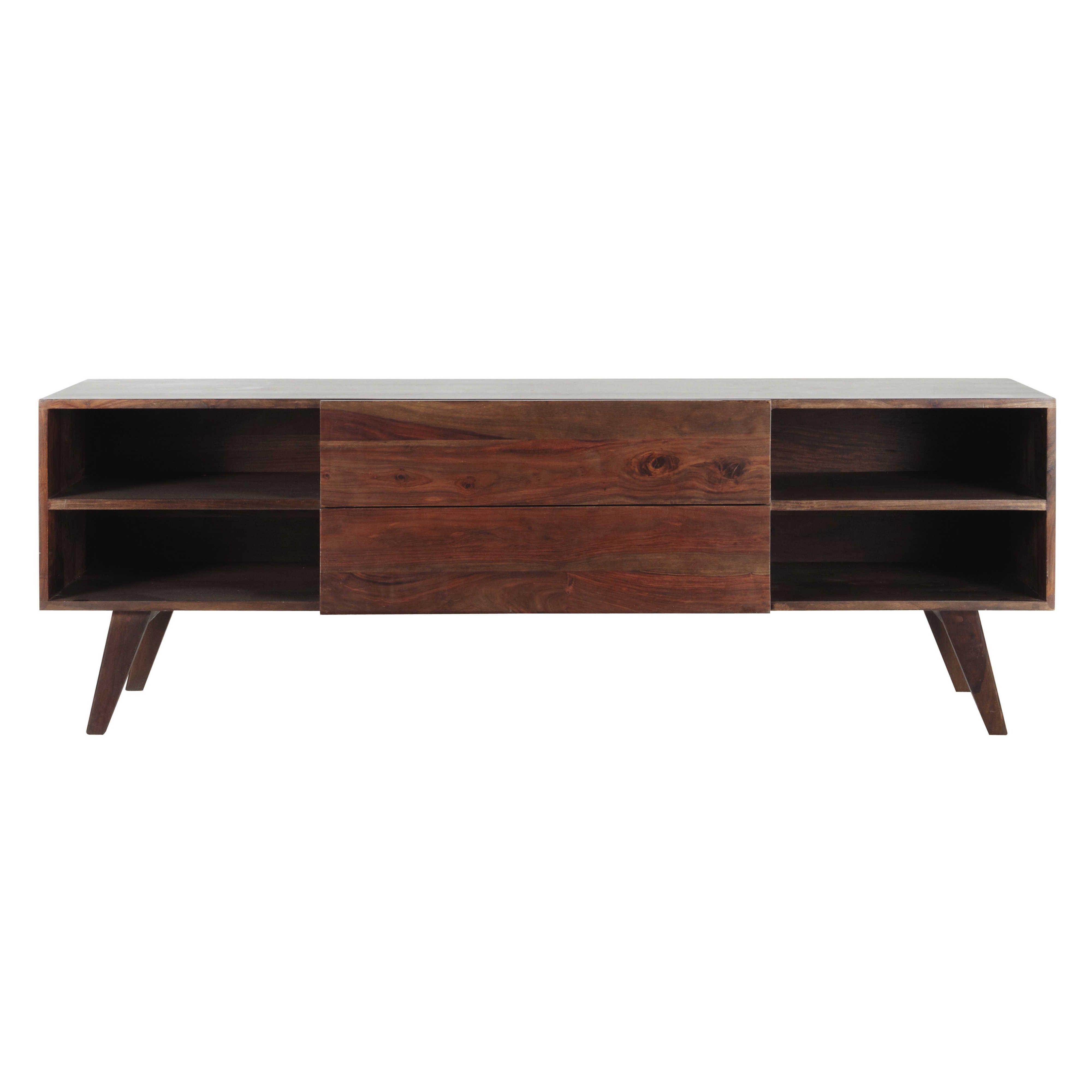 meuble tv vintage en bois de sheesham massif l 160 cm soho maisons du monde tv mobel tv hifi mobel vintage stil