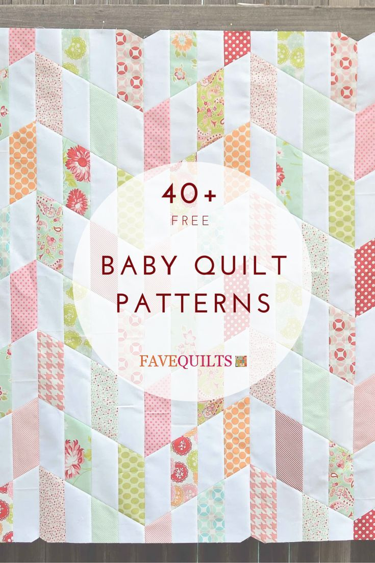 40 Free Baby Quilt Patterns Sewingquilting Pinterest Baby