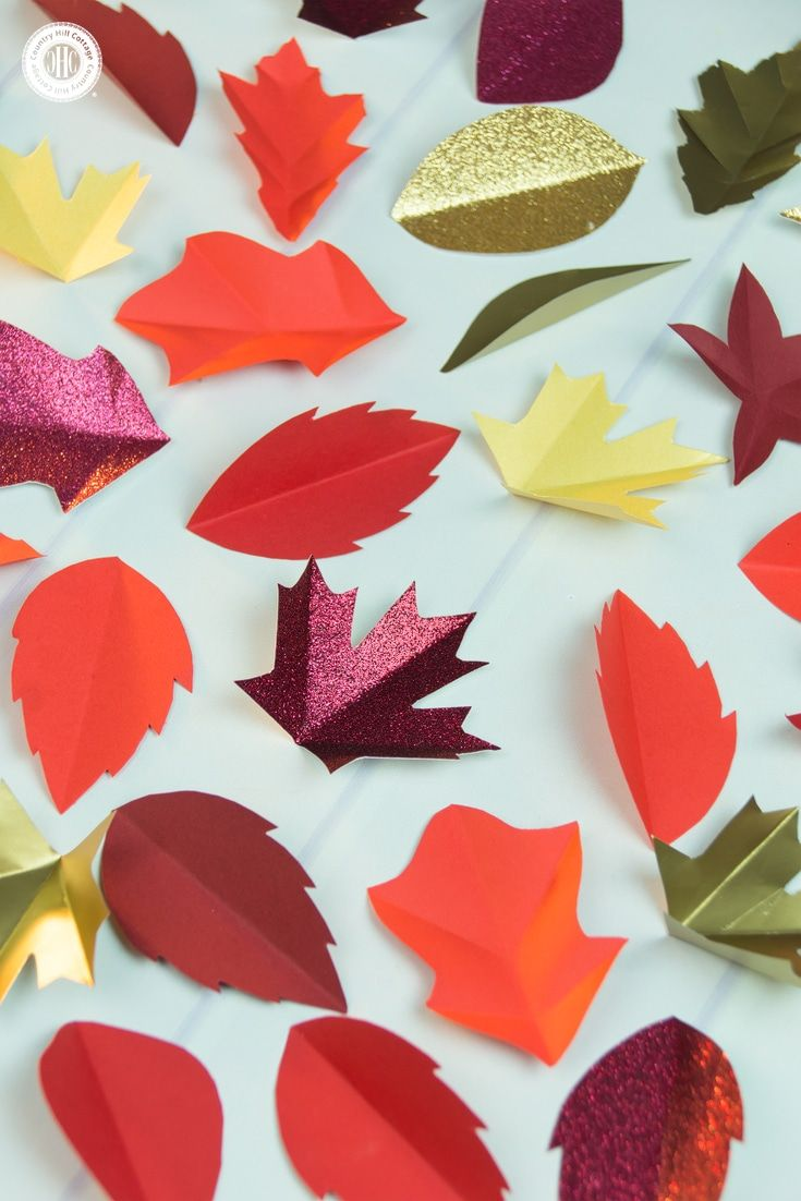 Autumn Paper Leaf Wreath And Printable Template Fall Paper
