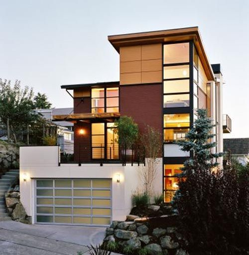 Minimalist Exterior Home Design Ideas: Modern Minimalist Wooden Home Design