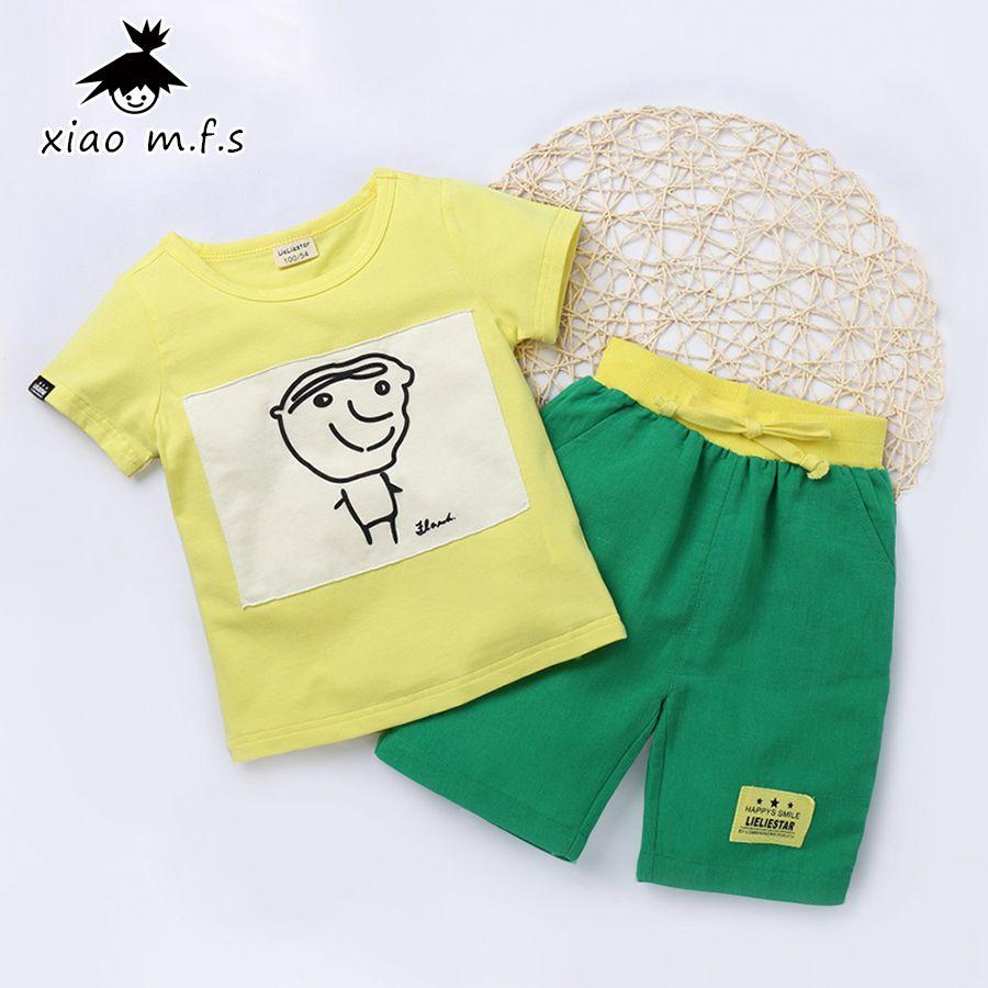 ed097d8074f Children T-Shirt Shorts Sport Suit Clothing Set Kids Clothes For Boys Girls  Tracksuit Summer