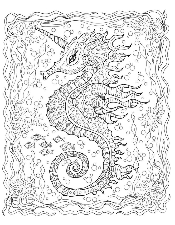 zendoodle coloring pages free | Zendoodle Coloring: Under the Sea | Coloring pages for ...