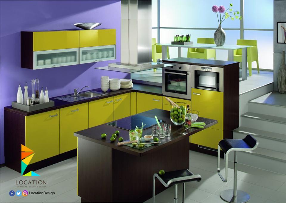 كولكشن مطابخ مفتوحه على الصاله للشقق الحديثة لوكشين ديزين نت Stylish Kitchen Kitchen Modern Kitchen