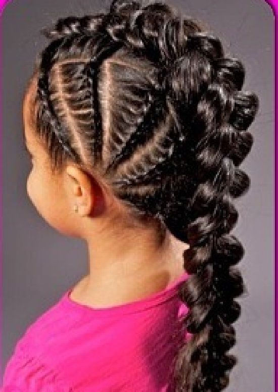 Cute Braid Hairstyle For Black Girls Google Search