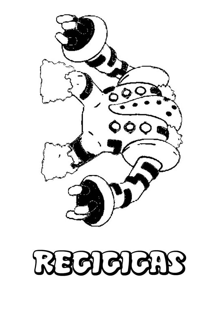 Regigigas Pokemon Coloring Page More Sheets On Hellokids