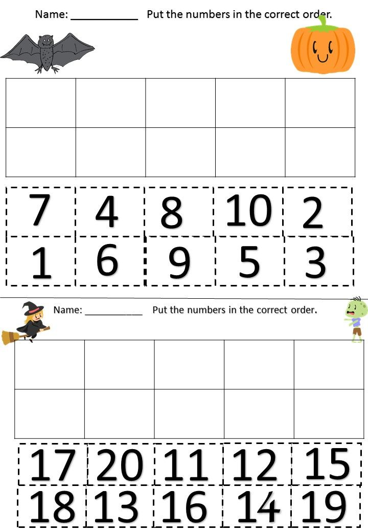Printable Worksheets number recognition worksheets 1-10 : FREE maths ordering worksheets | Maths Activities | Pinterest ...