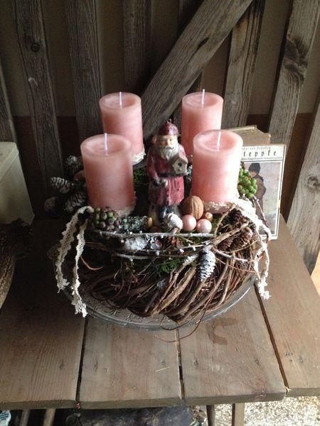 rosa in den advent vier lichter kranz von frijda im garten aus einer idee wurde leidenschaft. Black Bedroom Furniture Sets. Home Design Ideas