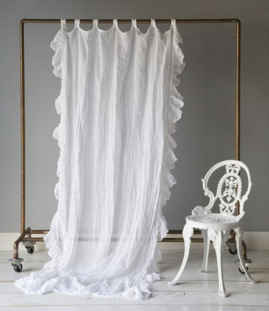 Take Idea Ruffle Curtains White Linen Curtains Linen Curtain