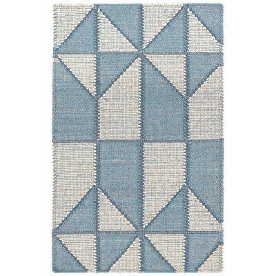 Dash and Albert Rugs Ojai Geometric Handmade Flatweave Blue Area Rug | Perigold