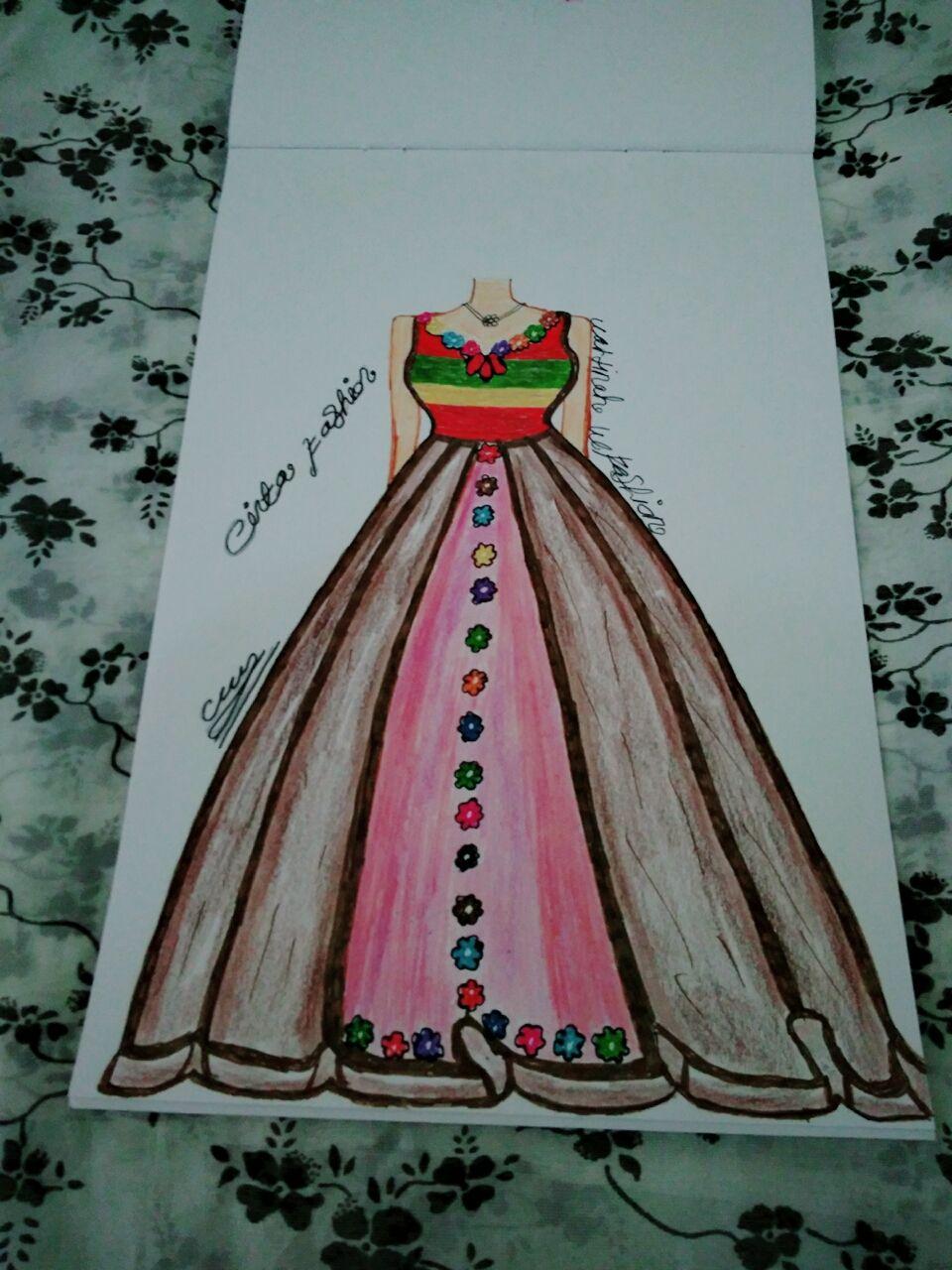 Kumpulan Soal Pelajaran 8 Sketsa Desain Baju Gaun Pesta