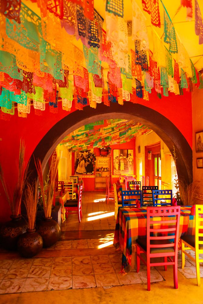 Restaurant in cabo san jose mexico digging the colors and