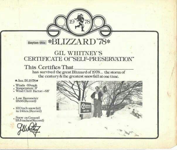 Blizzard Jan 26 1978 Dayton Ohio Hometown Dayton