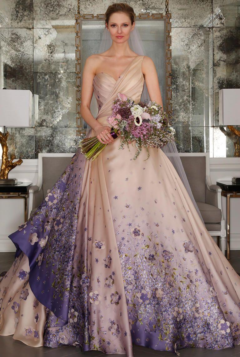 Wedding reception dresses purple 2017