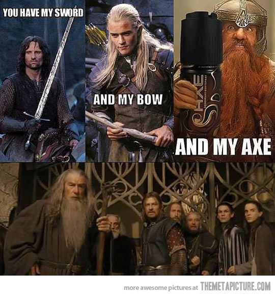 funny-and-my-axe-Lord-of-the-Rings  @Jasmine Ann Ann Ivey
