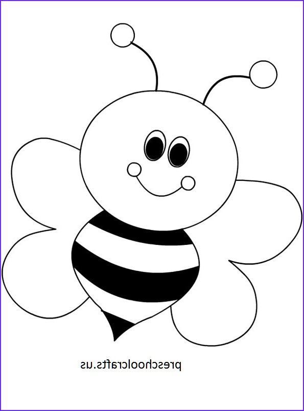 Bee Coloring Pages Preschool And Kindergarten Bee Coloring Pages Art Drawings For Kids Coloring Pages