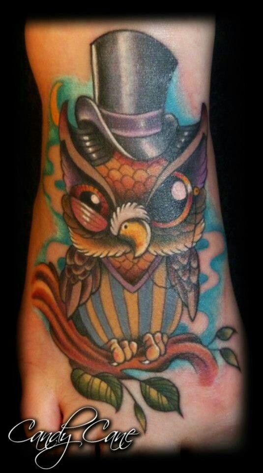 Top Hat Owl Friend Tattoos Tattoos Cool Tattoos