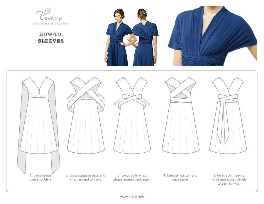 Twist Dress Wrap Dresswith Diagrams Wrap Instructions