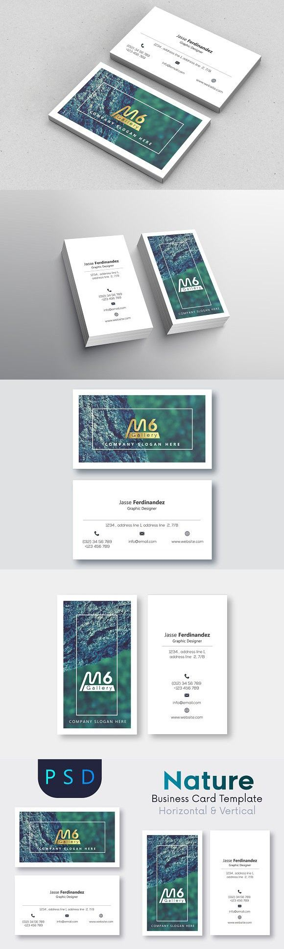 Nature Business Card Template- S11 | Card templates, Business cards ...