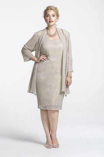 gold mother of the bride dresses plus size with jacket - Google ...