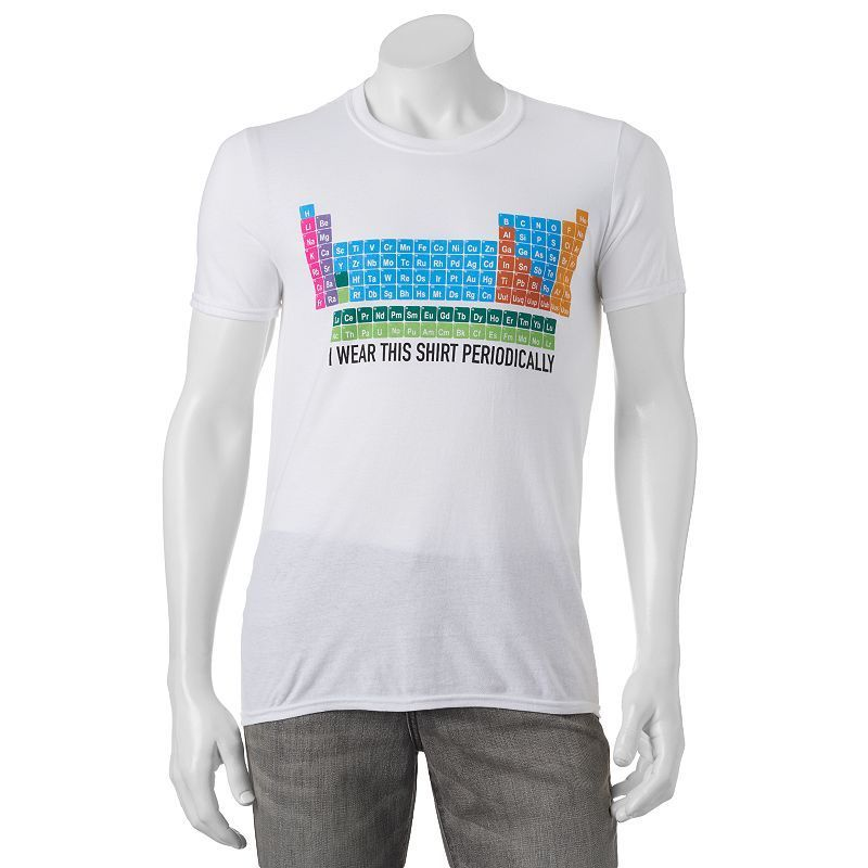 3a4d7d4a1211 Men's I Wear This Shirt Periodically Tee, Size: Medium, White ...