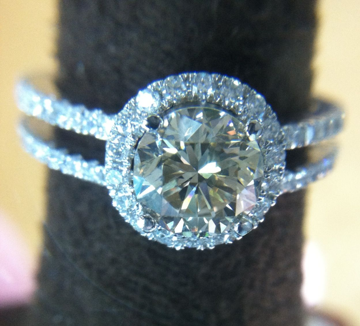 Beautiful Engagement Ring With Champagne Diamond Beautiful Engagement Rings Best Engagement Rings Engagement Rings