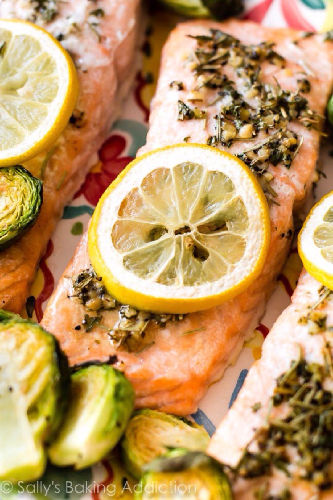 Baked lemon herb salmon