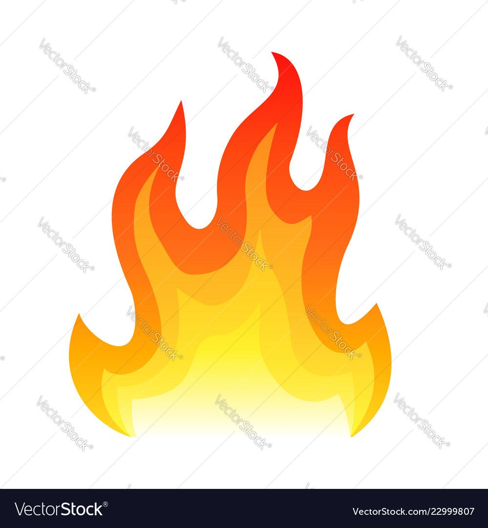 Red Fire Flat Icon Isolated On White Background Vector Image Spon Flat Icon Red Fire Ad Vector Character Design Vector Images Vector Free