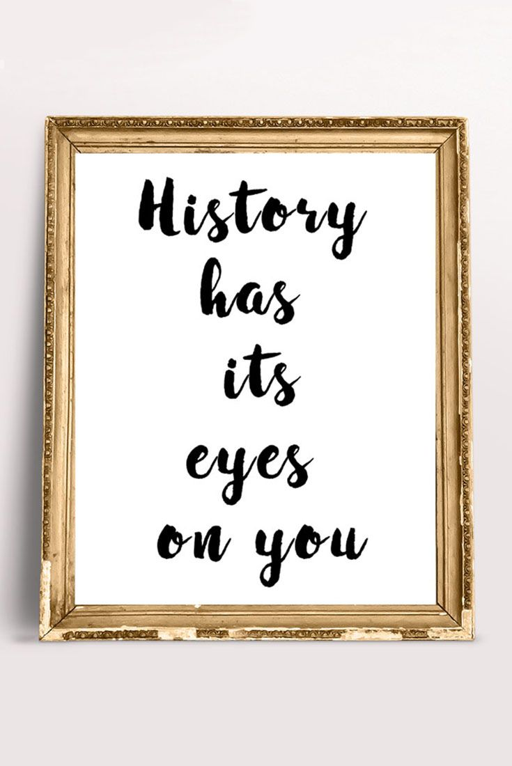 Hamilton the musical history has its eyes on you quote broadway
