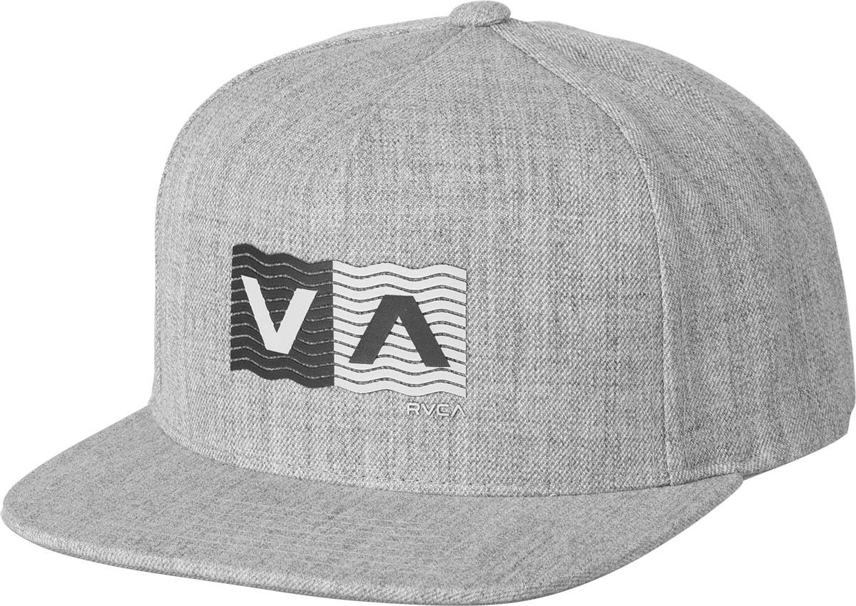 new arrival a6faf 02199 The RVCA Wave Box Snapback Hat is a mid-fit, 5-panel darted snapback with a high  density screen print at the front and a RVCA flag label at the back.