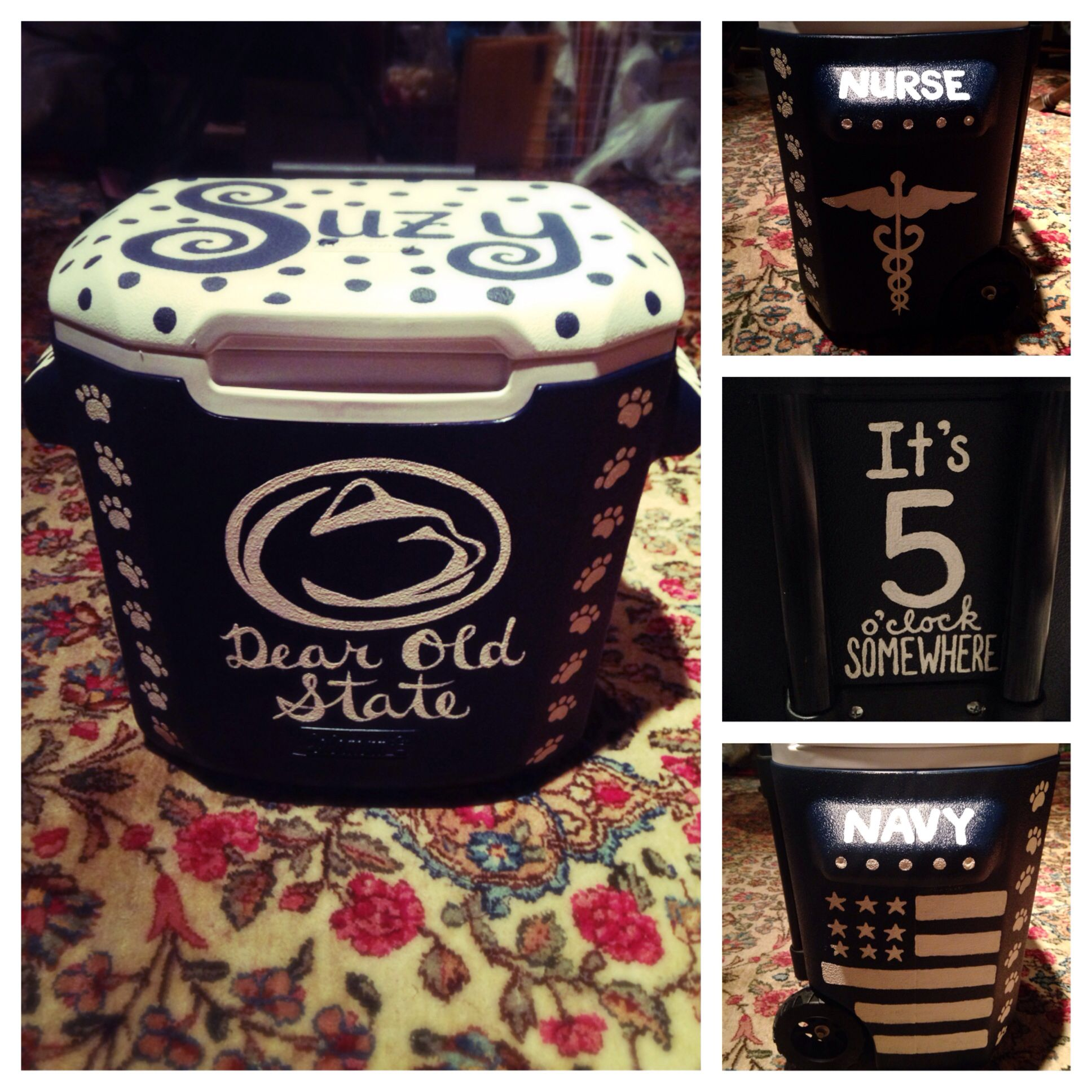 off to penn state graduation cake my cakes the o my very own penn state painted cooler can t wait for football season