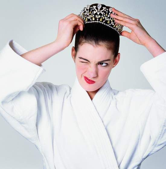 Anne Hathaway in the Princess Diaries :)