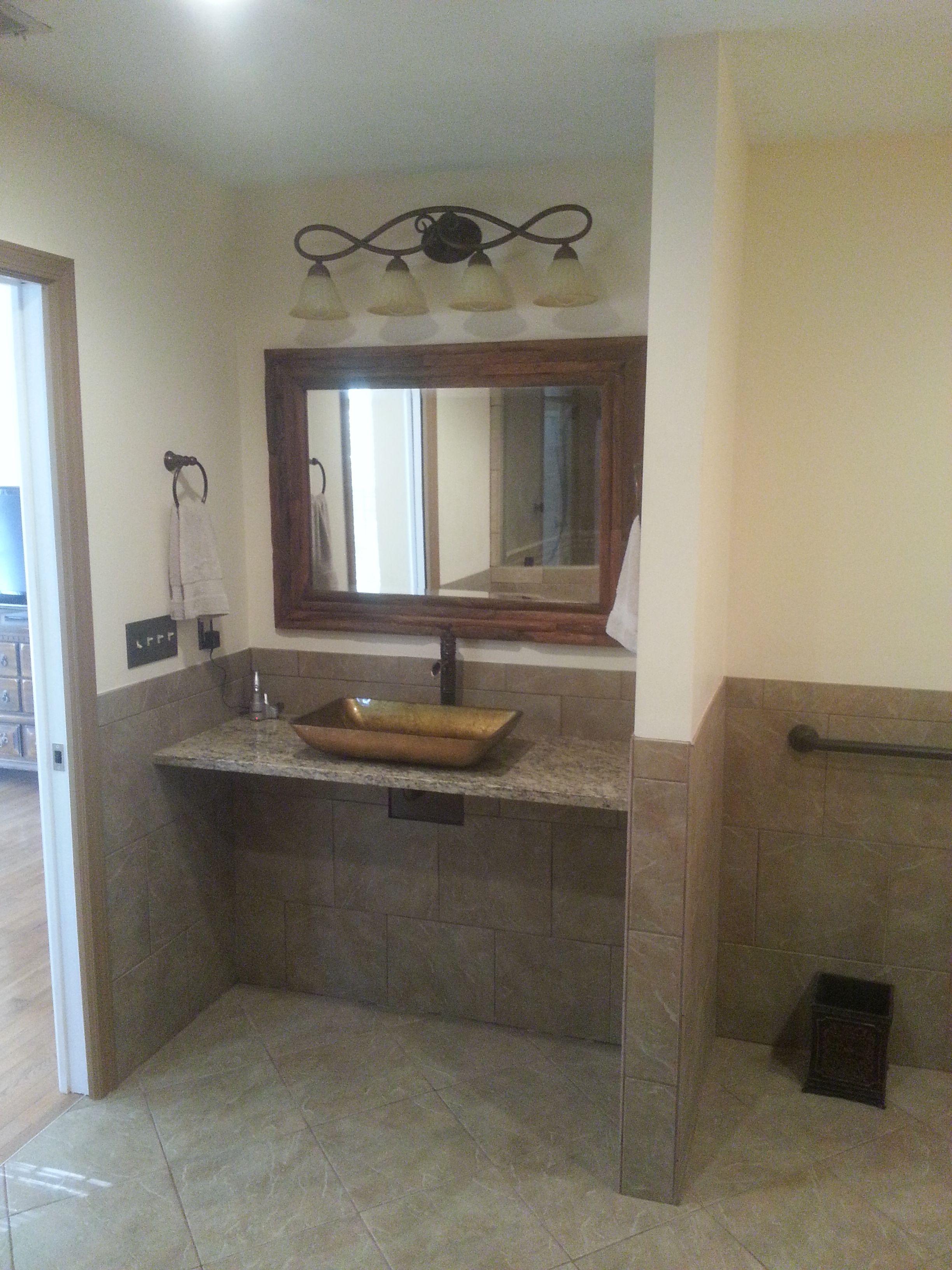 Wheelchair Accessible Sink In Master Bath Faucet Cutoffs