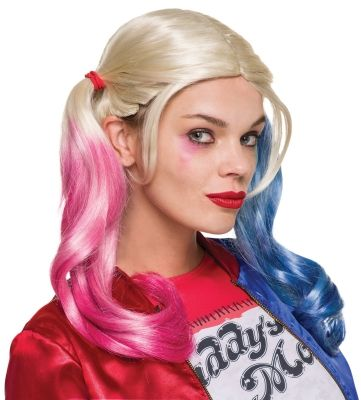 superherocostumesusa  Suicide Squad Harley Quinn Adult Wig for