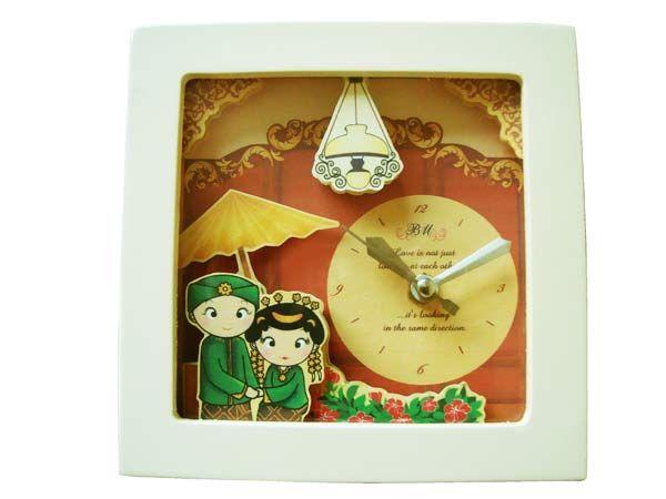 Souvenir Pernikahan Exclusive Wooden Vintage Clock Traditional Paper Tole Clockmarco Mario Souvenir Wedding Souvenirs Souvenir Pernikahan