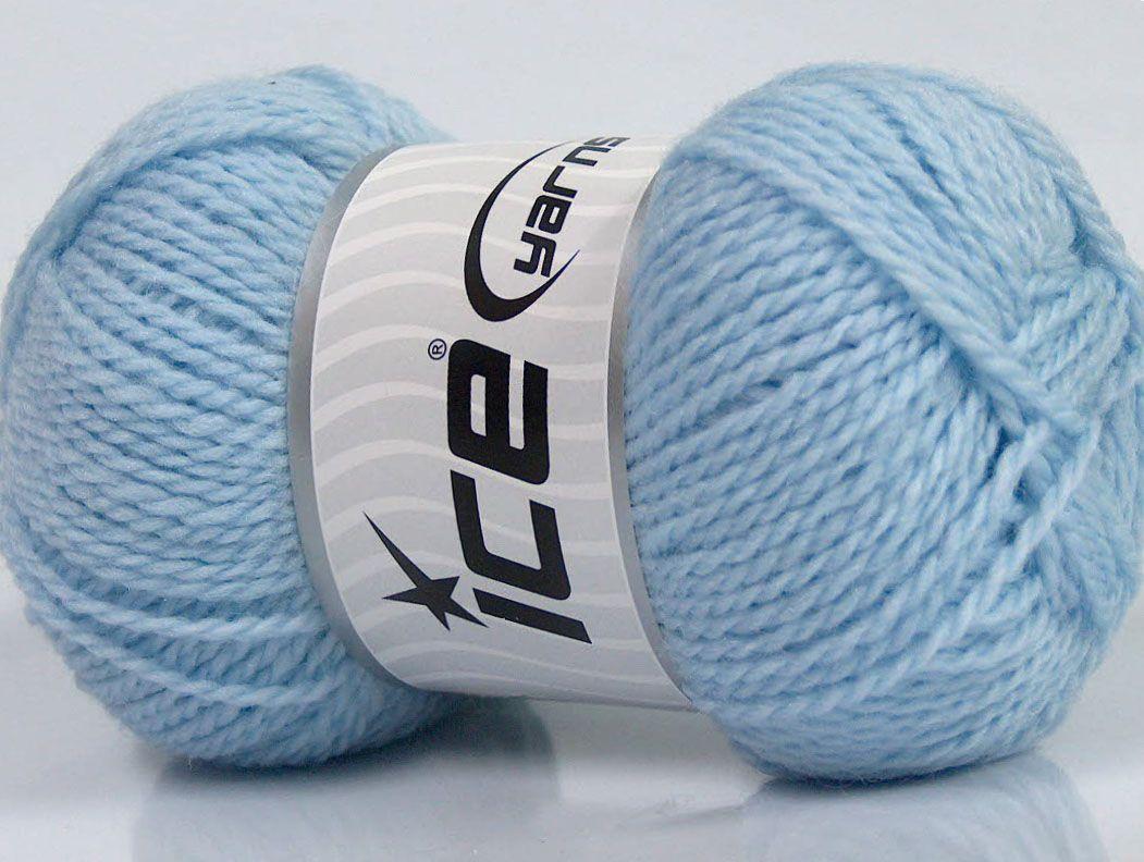 Fiber Content 60% Virgin Wool 40% Acrylic Brand Ice Yarns Baby Blue fnt2-43535