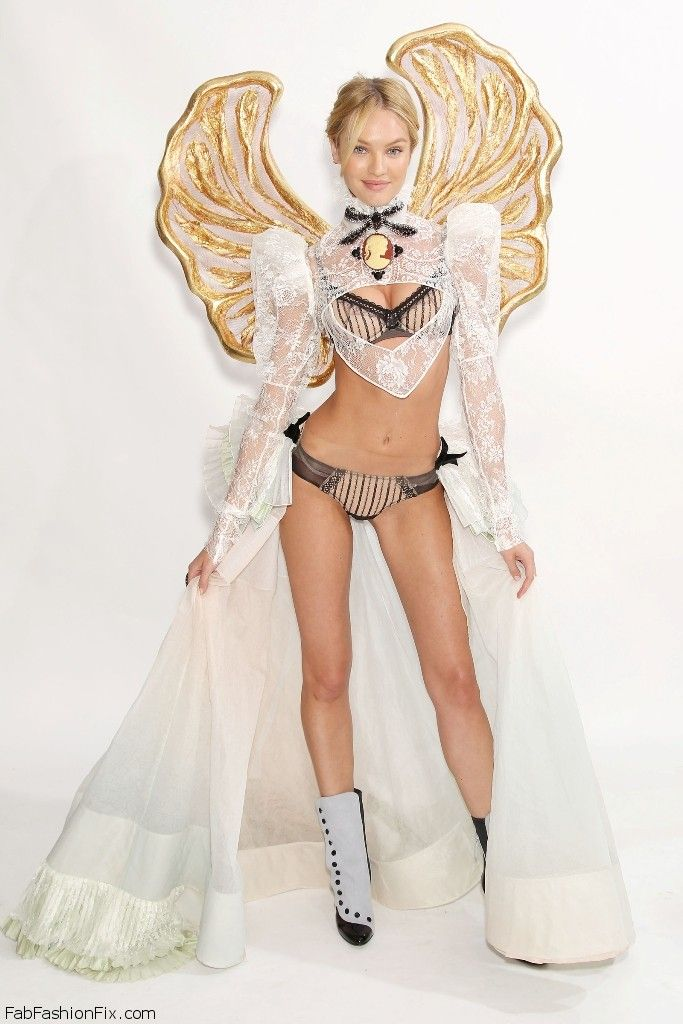 Candice Swanepoel at 2011 Victoria's Secret Fashion Show Fitting