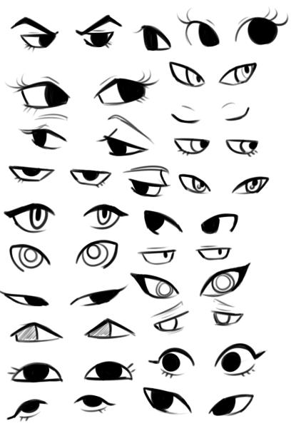 Pin by Ayacosm on Art Resources & Tutorials Cartoon eyes