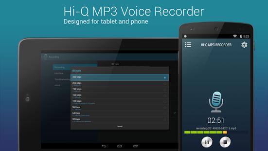 HiQ MP3 Voice Recorder Pro v2.1.0 Apk Voice recorder