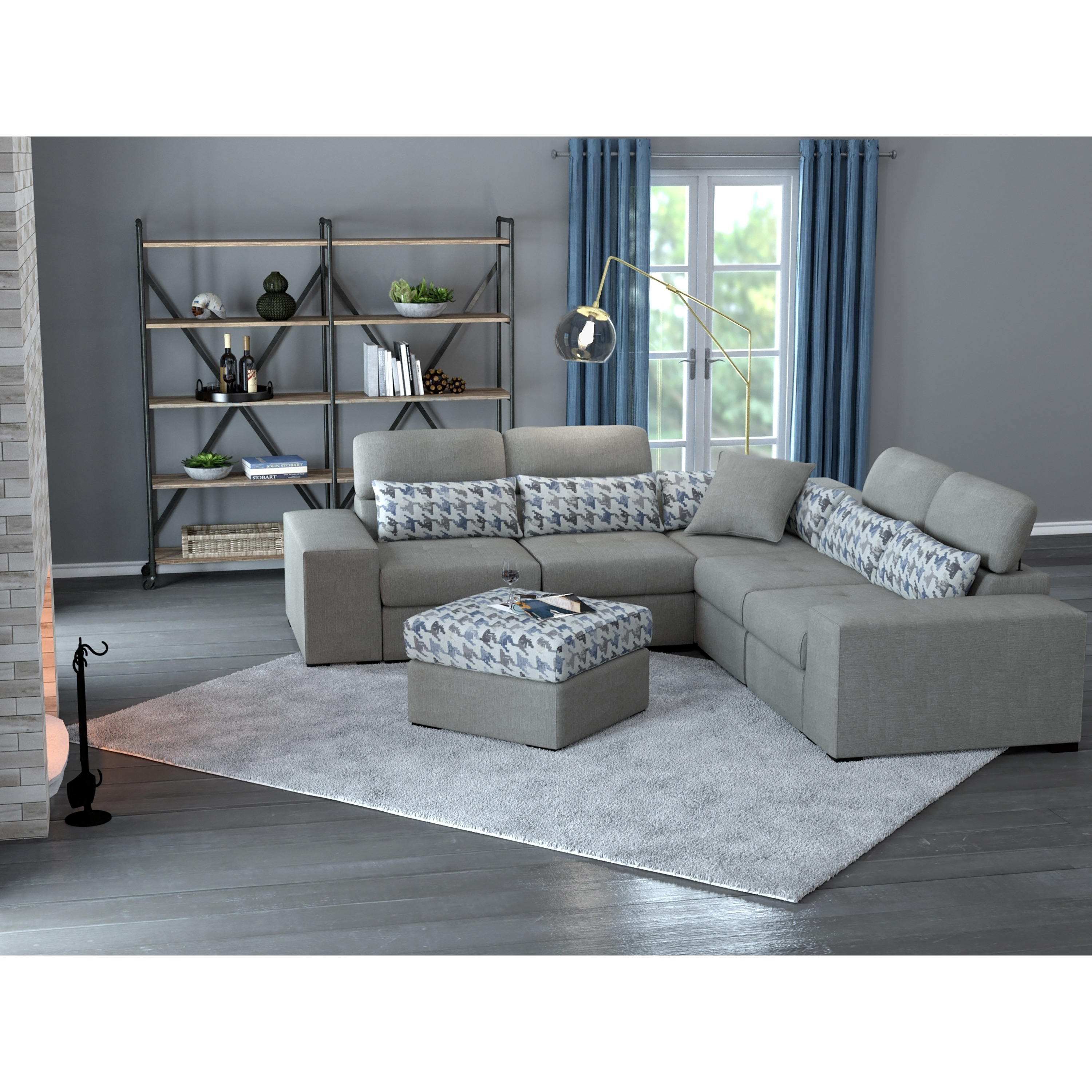 Awesome Copper Grove Ciney Rhap Dove Grey Mix 6 Piece Sectional And Gmtry Best Dining Table And Chair Ideas Images Gmtryco