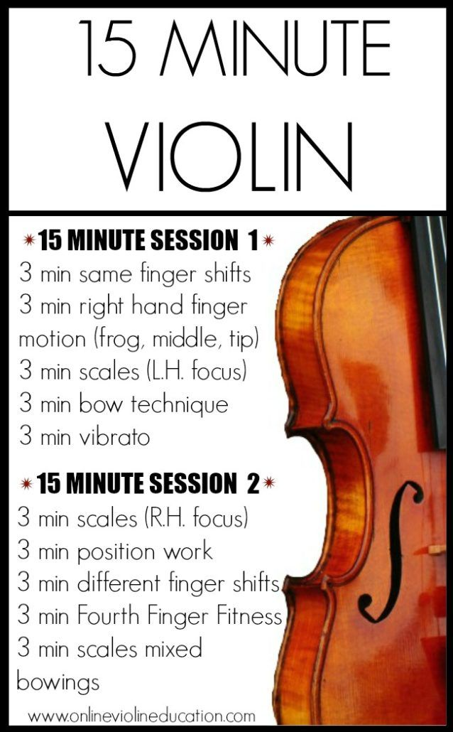 15 – 30 MINUTES ESSENTIAL VIOLIN TECHNIQUE PRACTICE ...