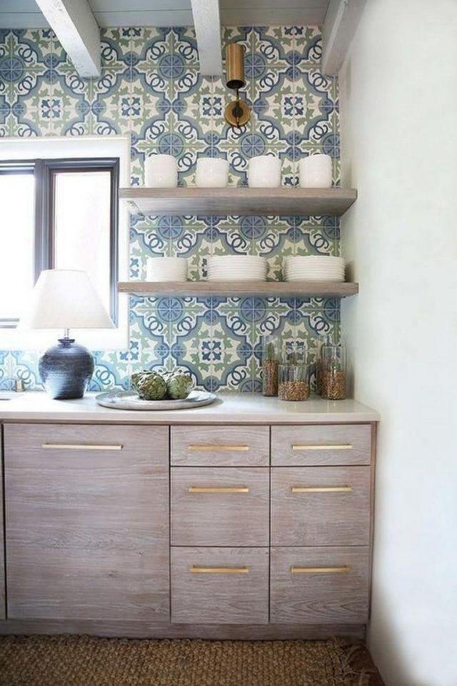 fabulous shelf on bathroom counter | 45+ Fabulous Chalet Kitchen Designs Ideas That Inspire ...