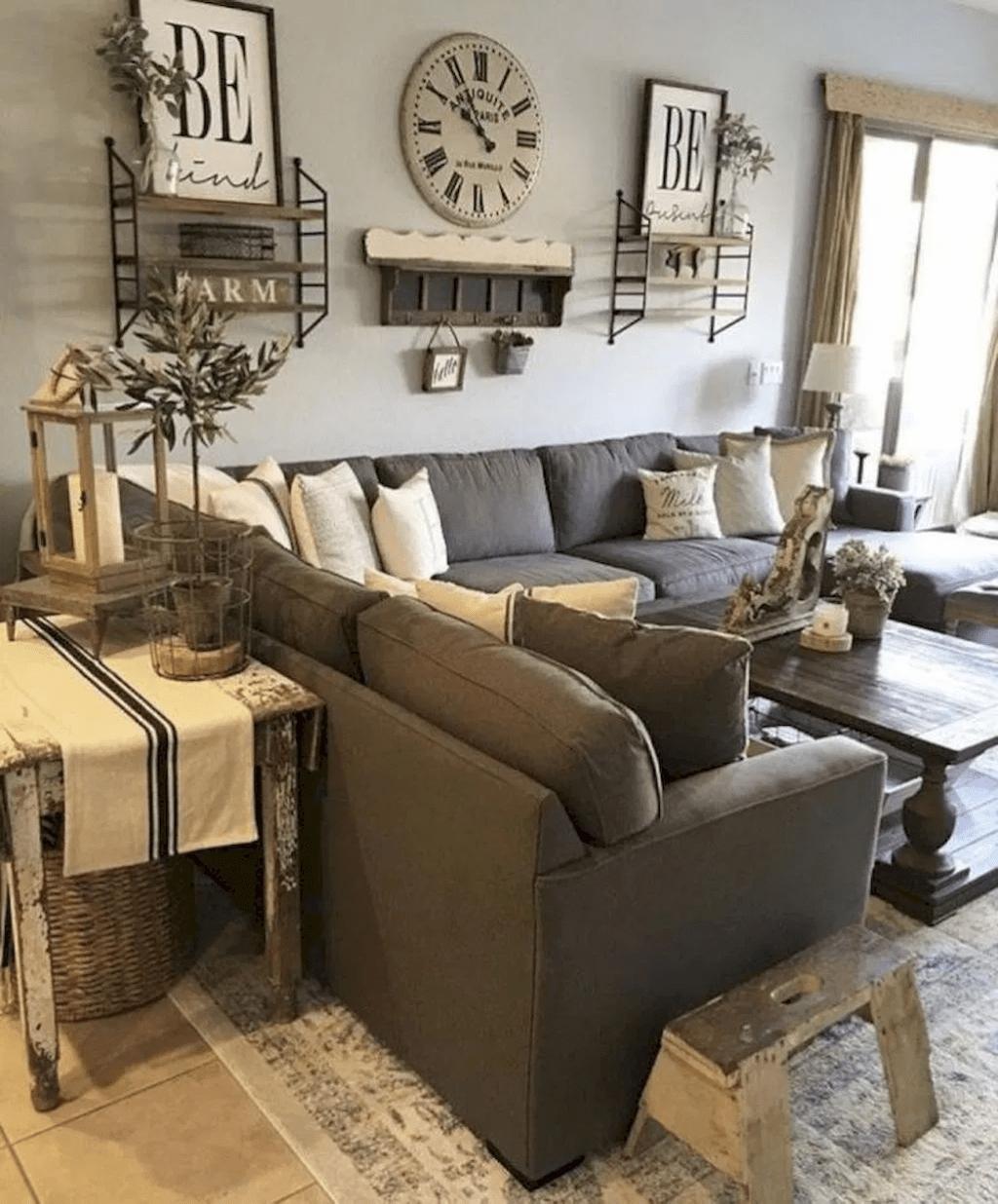4 Nice Rustic Farmhouse Living Room Design And Decor Ideas in