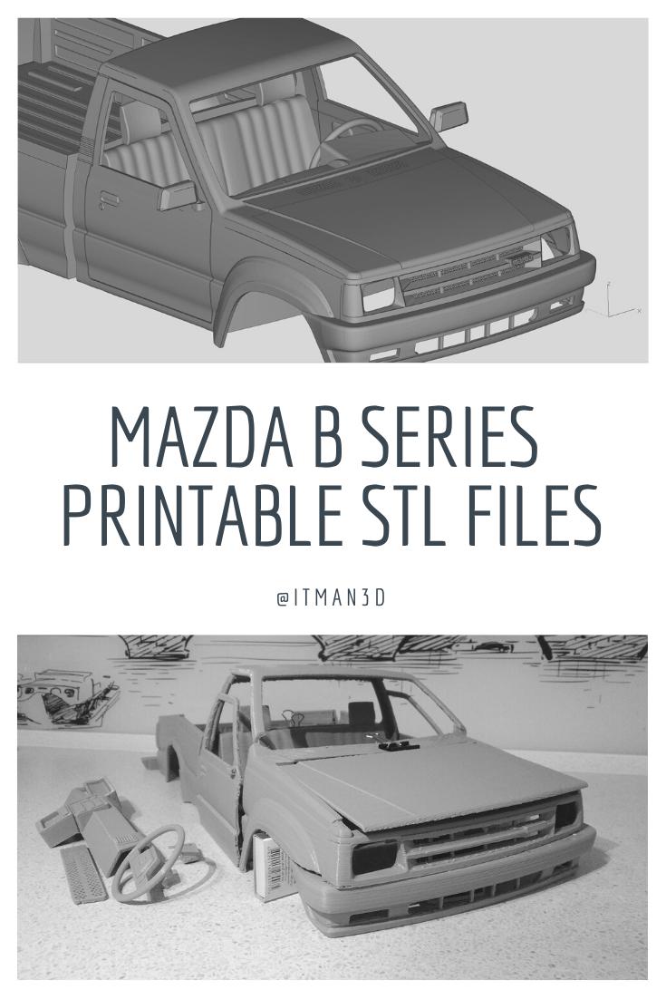 Mazda B Series B2600 B2200 Regular Cab 3d Print Rc Car Parts 3d Print Model Mazda Rc Cars Regular Cab