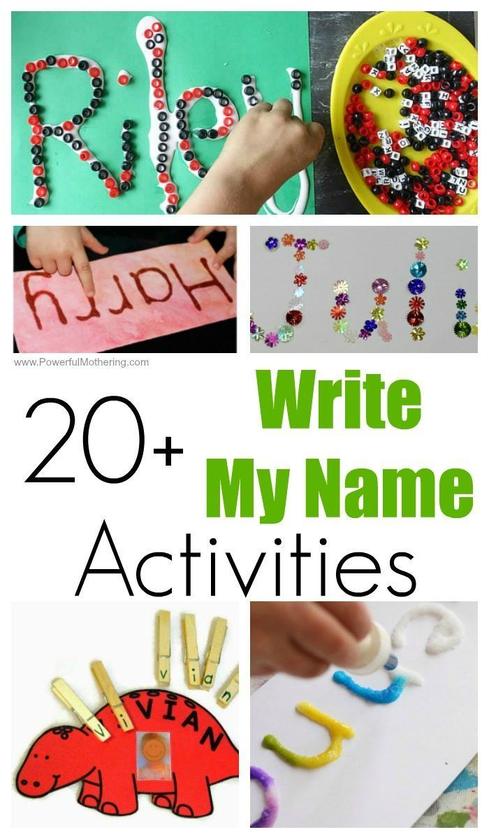 20+ FUN Write My Name Activities for Toddlers and Preschoolers