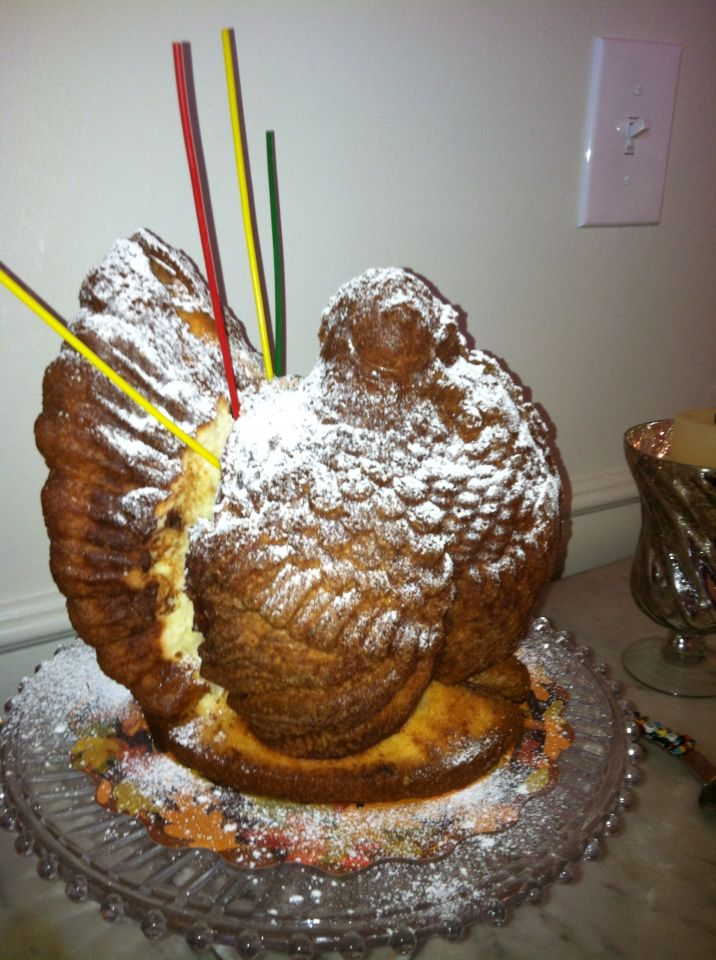 Davids Turkey Birthday Pound Cake Food Pinterest